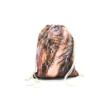 Női divat tornazsák - Téglarózsaszín, állatmintás