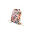 Női divat tornazsák  - Virágmintás, rózsaszín farmerhatású