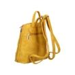 Női-divat-hátizsák-sárga-színben-sávos-díszítéssel-oldalnézet-pakkolj-hu