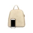 Női-divat-hátizsák-bézs-bőrhatású-két-cipzár-telefonnal-pakkolj-hu