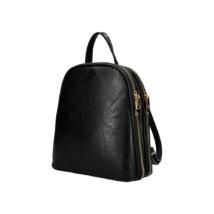 Női-divat-hátizsák-fekete-bőrhatású-dupla-cipzáras-pakkolj-hu