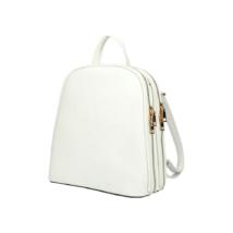 Női-divat-hátizsák-fehér-bőrhatású-két-cipzárral-pakkolj-hu