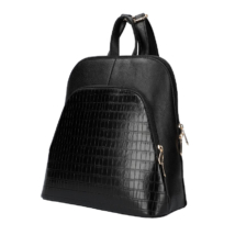 Női-hátizsák-krokodil-mintával-fekete-pakkoljhu