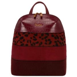 David-Jones-női-hátizsák-párducmintás-burgundi-pakkolj-hu
