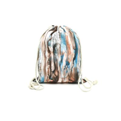 Női-hátizsák-divat-tornazsák-barna-kék-nonfiguratív-pakkolj-hu