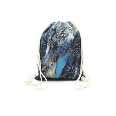 Női-hátizsák-divat-tornazsák-tengerkék-állatmintás-pakkolj-hu