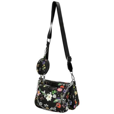Virágos-fekete-crossbody-válltáska-pénztárca-pakkolj-hu