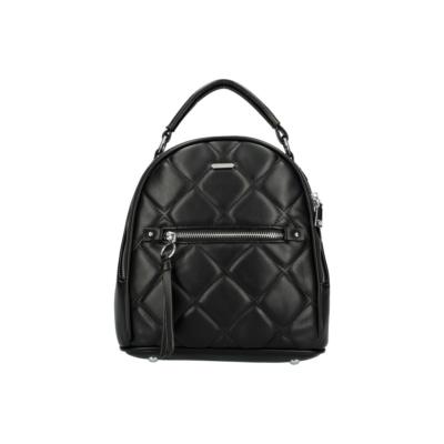 Női-kis-hátizsák-fekete-steppelt-pakkolj-hu